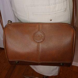 Liz Claiborne brown faux leather crossbody